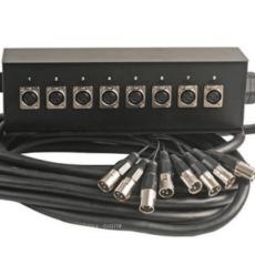 8 Way XLR Multicore Stage Box, 10m
